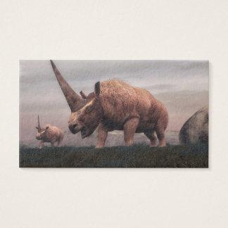 Elasmotherium mammal dinosaurs - 3D render Business Card