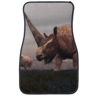 Elasmotherium mammal dinosaurs - 3D render Car Mat