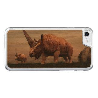 Elasmotherium mammal dinosaurs - 3D render Carved iPhone 7 Case