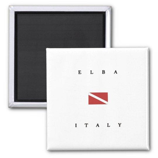 Elba Italy Scuba Dive Flag Magnet