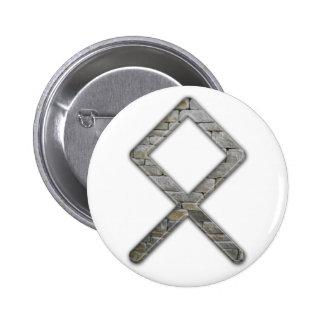 Elder Futhark Rune Odal 6 Cm Round Badge