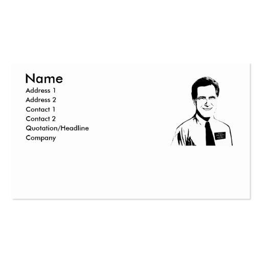 Elder Mitt Romney Business Card