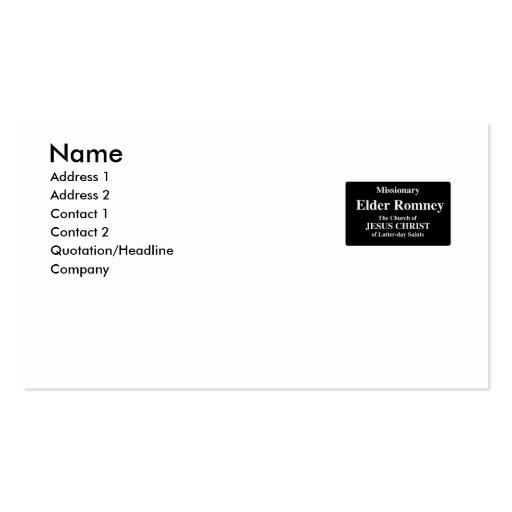 Elder Romney Business Cards