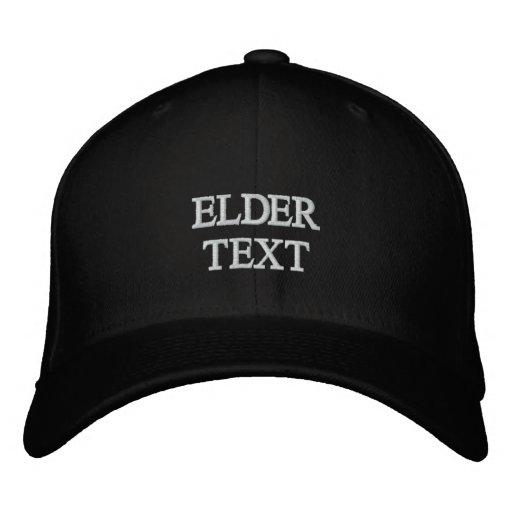 ELDER TEXT EMBROIDERED HATS