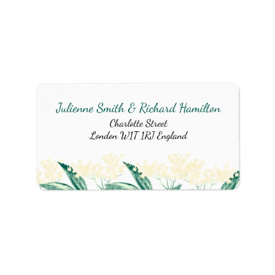 Elderberry flowers | Rustic Wedding Invitation Address Label