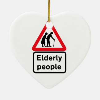 Elderly People (2), Traffic Sign, UK Ceramic Ornament