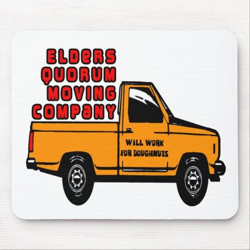 Elders Quorum Moving Company Mousepad