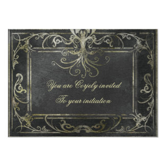 Eldrich Invitation (Gold and Black)