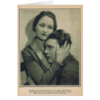 Eleanor Boardman James Murray movie publicity 1927 Card