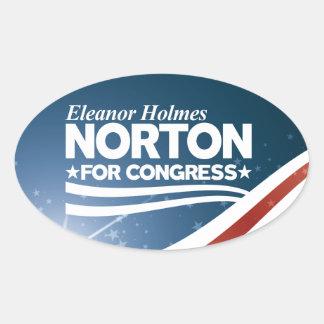 Eleanor Holmes Norton Oval Sticker