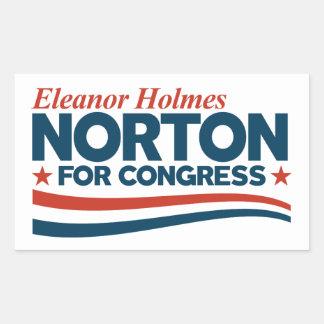 Eleanor Holmes Norton Rectangular Sticker