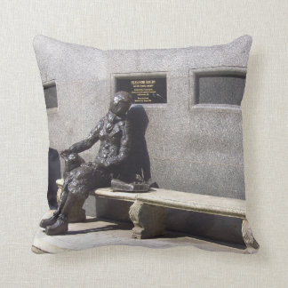 Eleanor Rigby Statue, Liverpool, UK. Cushion