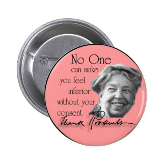 Eleanor Roosevelt - First Lady of the World 6 Cm Round Badge