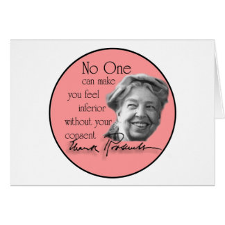Eleanor Roosevelt - First Lady of the World Greeting Card