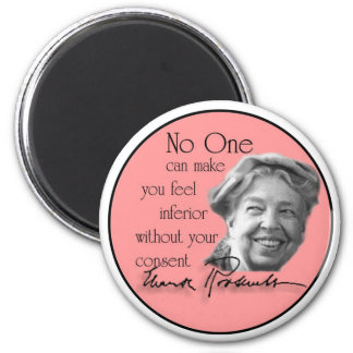 Eleanor Roosevelt - First Lady of the World 6 Cm Round Magnet