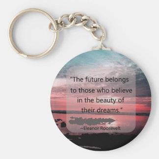 Eleanor Roosevelt Quote Basic Round Button Key Ring