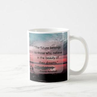 Eleanor Roosevelt Quote Basic White Mug