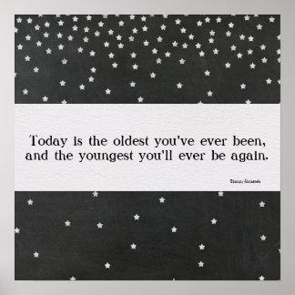 Eleanor Roosevelt Quote Chalkboard Design Poster