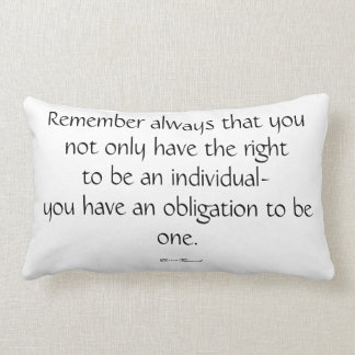 Eleanor Roosevelt Quote Pillow Cushion