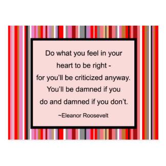 Eleanor Roosevelt Quote Postcard