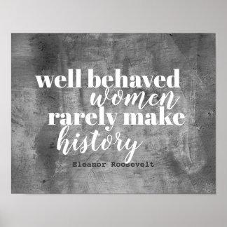 Eleanor Roosevelt quote poster on women