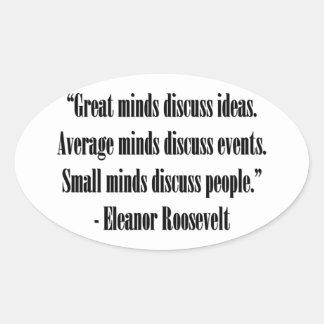 Eleanor Roosevelt Quote Sticker
