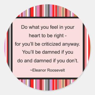Eleanor Roosevelt Quote Stickers