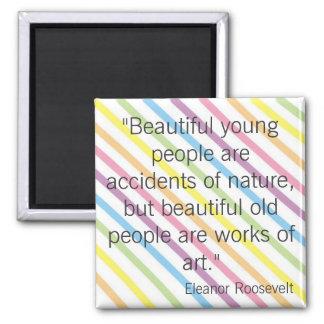 Eleanor Roosevelt Square Magnet