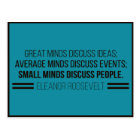 Eleanor Roosevelt 'The Three Minds' Quote Postcard