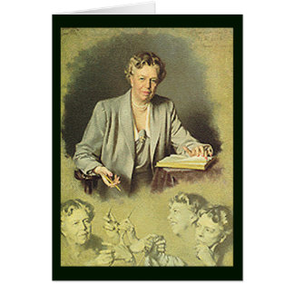 Eleanor Roosevelt White House portrait Card