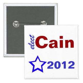 Elect Cain 2012 Pin