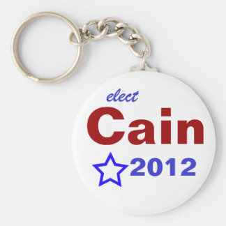 Elect Cain 2012 Basic Round Button Key Ring
