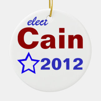 Elect Cain 2012 Round Ceramic Decoration