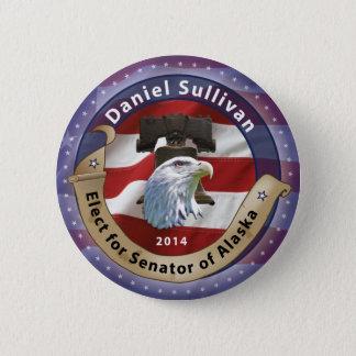 Elect Daniel Sullivan for Senator of Alaska - 2014 6 Cm Round Badge