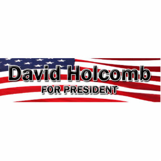 Elect David Holcomb Standing Photo Sculpture