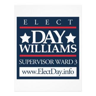 Elect Day Williams 21.5 Cm X 28 Cm Flyer