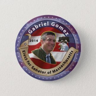 Elect Gabriel Gomez for Senator of Massachusetts 6 Cm Round Badge