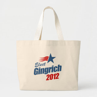 Elect Gingrich 2012 Tote Bags