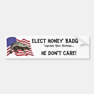 Elect Honey Badger Bumper Sticker Car Bumper Sticker
