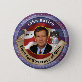 Elect John Kasich for Governor of Ohio - 2014 6 Cm Round Badge