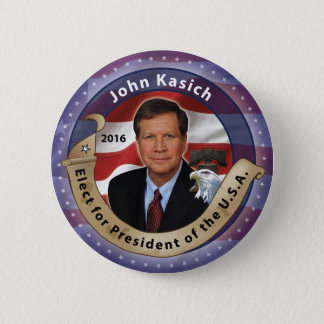 Elect John Kasich for President 6 Cm Round Badge