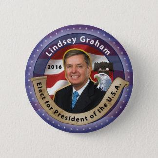 Elect Lindsey Graham for President 2016 6 Cm Round Badge