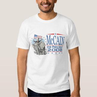Elect McCain GOP Elephant 2008 T Shirt