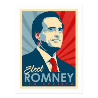 Elect Mitt Romney for President Postcard