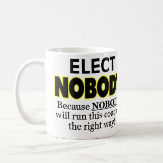 ELECT NOBODY COFFEE MUG