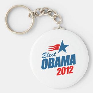Elect Obama 2012 Basic Round Button Key Ring