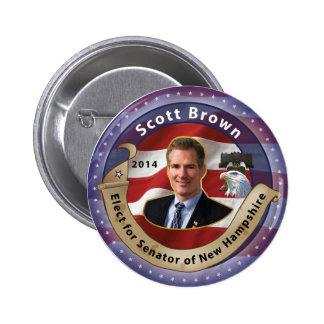 Elect Scott Brown for Senator of New Hampshire 6 Cm Round Badge