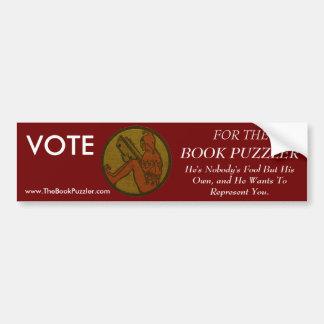 Elect The Book Puzzler Bumper Sticker