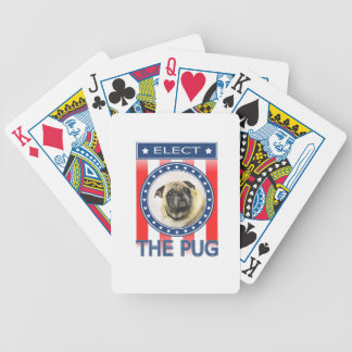Elect The Pug Bicycle Playing Cards
