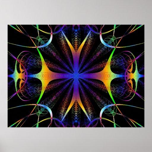 Electic Color Fractal Poster